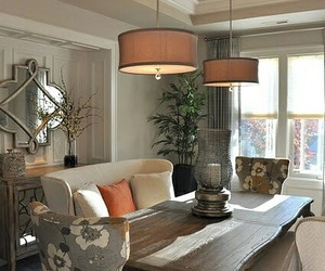 dining room, home decor, and mismatched dining chairs image