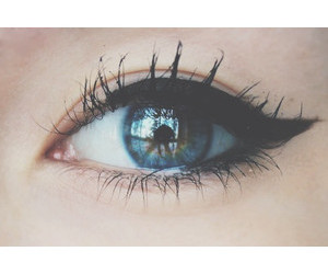 eye, blue, and eyeliner image