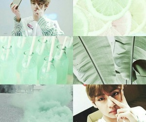 green, pastel, and lime image