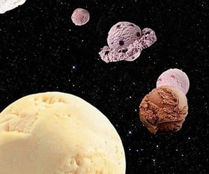 ice cream, space, and planet image