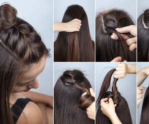 hair, hairtutorials, and hairstyle image