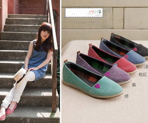 cute pastel colored shoes image