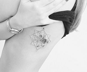 flower, geometric, and tattoo image