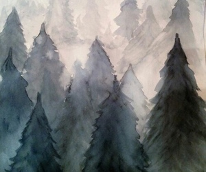 paint, art, and forest image
