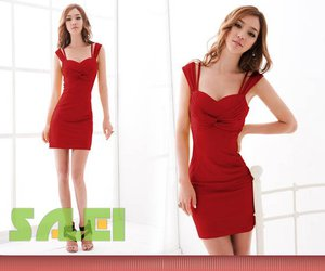 pretty, sexy, and simple red dress image