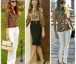 animal print, bag, and blouse image