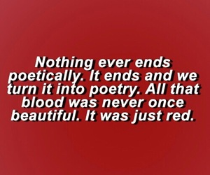 quotes, red, and poetry image