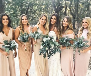 wedding, wedding decor, and bridesmaid dress image