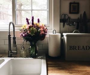 decor, flowers, and kitchen image