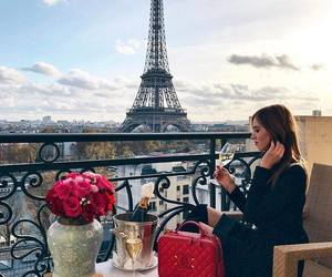 champagne, eiffel tower, and paris image