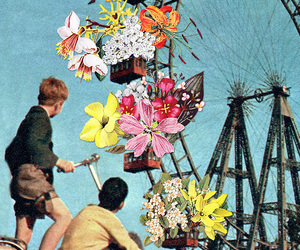 flowers, art, and kids image