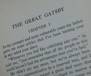 book, great gatsby, and lines image