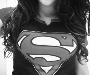 superman, girl, and black image