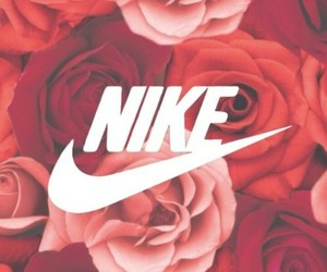 nike, rose, and flowers image