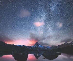 stars, sky, and mountains image