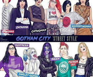 batgirl, canary, and catwoman image