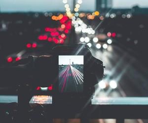 camera, city, and light image