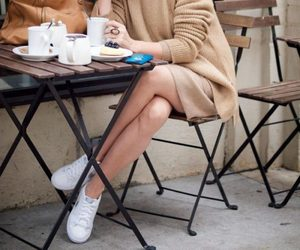 blog, style, and white sneakers image