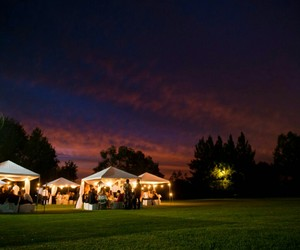 night, wedding, and out door image