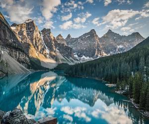 lake, mountains, and nature image