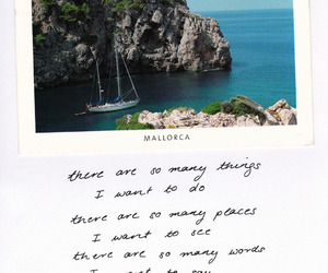 quote, travel, and beach image