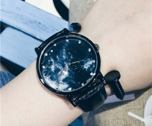 accessories, wacth, and black image