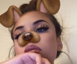 girl, makeup, and snapchat image