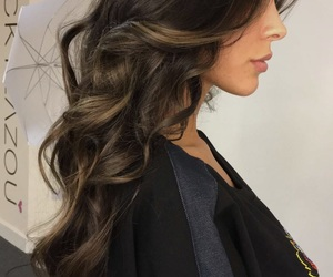 brunette, hair, and hair goals image