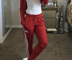 adidas, outfit, and red image