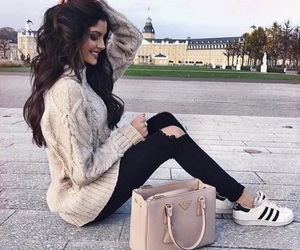 style, bag, and hair image