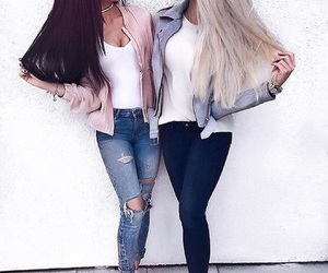 bff, blonde, and fashion image