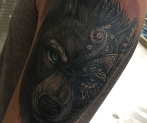 tattoo, wolf, and tatuajes image