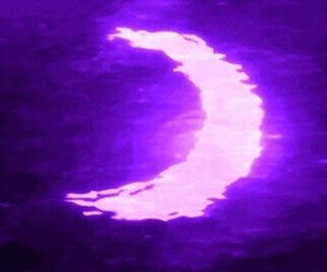 purple, aesthetic, and moon image