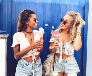 friends, summer, and bff image
