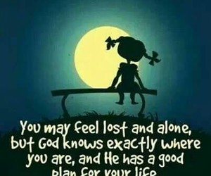 god, alone, and quote image