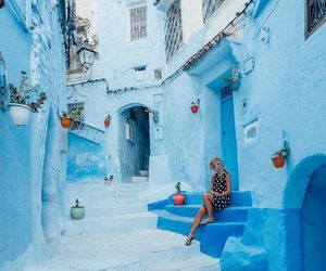 blue, travel, and photography image
