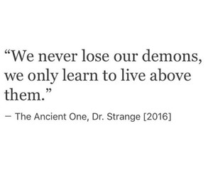 quote, demons, and happiness image