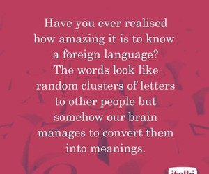 languages, learning, and true image
