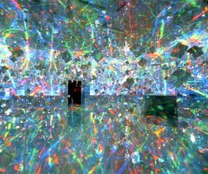 installation, iridescent, and rainbow image