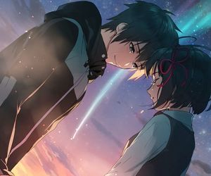 anime, kimi no na wa, and your name image