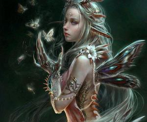 fairy, art, and butterfly image