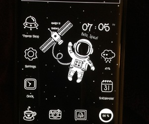 android, phone, and space image