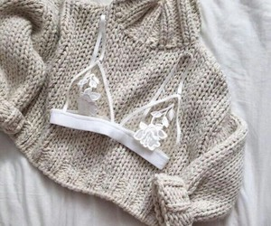 bralette, knitted, and sweater image