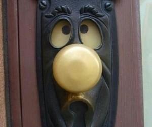 alice in wonderland and door image