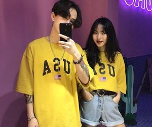 boy, girl, and korean image
