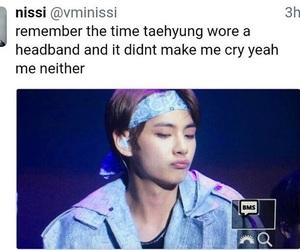 bts, taehyung, and bts meme image
