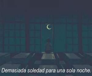 night, frases, and loneliness image