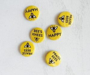 yellow, aesthetic, and bee image