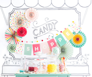 party supplies, party banners, and birthday invitation cards image