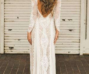 boho, bride, and dress image